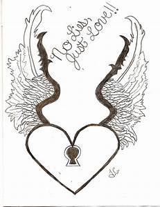 Drawings Of Hearts With Wings Step By Step - ClipArt Best