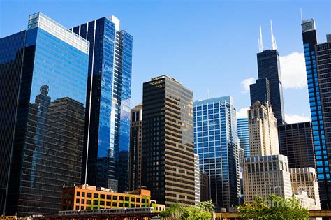 City Building Backgrounds by Chicago Skyline Downtown City Buildings Photograph By Paul