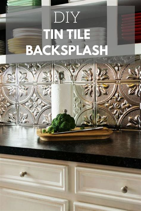 install  tin tile backsplash   diy