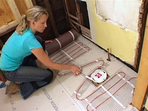 Heated Bathroom Floor Systems How To Install A Radiant Heat System Underneath Flooring