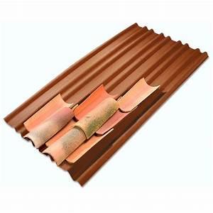 Schema Pose Plaque Fibro Ciment : plaque sous tuile ocre x 2m onduline leroy merlin ~ Dailycaller-alerts.com Idées de Décoration