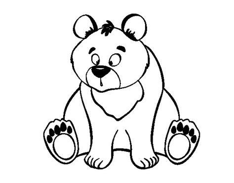 disegno  orso bruno da colorare acolorecom