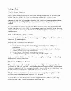 Resume objective to put on a resume discoverymuseumwv for Good objectives to put on a resume
