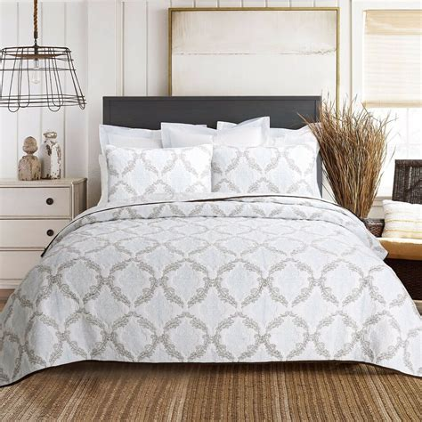 Cotton Coverlets by Elizabeth Embroidered Cotton Quilt Set