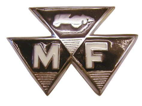 massey ferguson tractor  coloured front badge mm centers