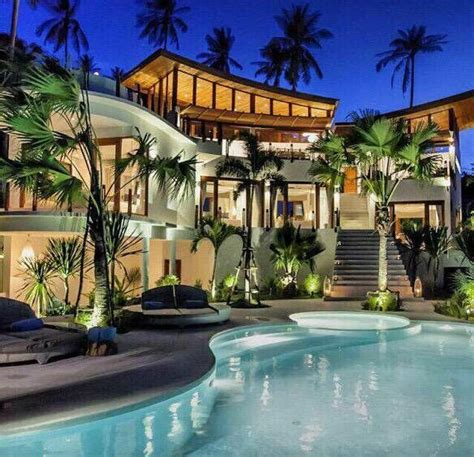 luxury mansion exterior design  serene landscaping