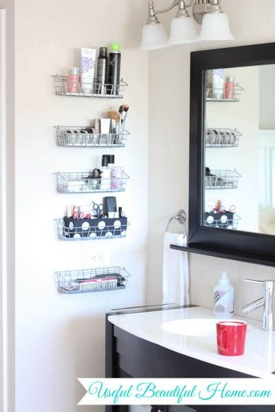 vertical vanity organization   bathroom