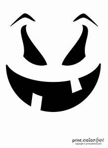 Pumpkin, Carving, Stencil, Evil, Goof, Coloring, Page