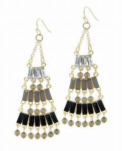 Le chic black chandelier earrings view all