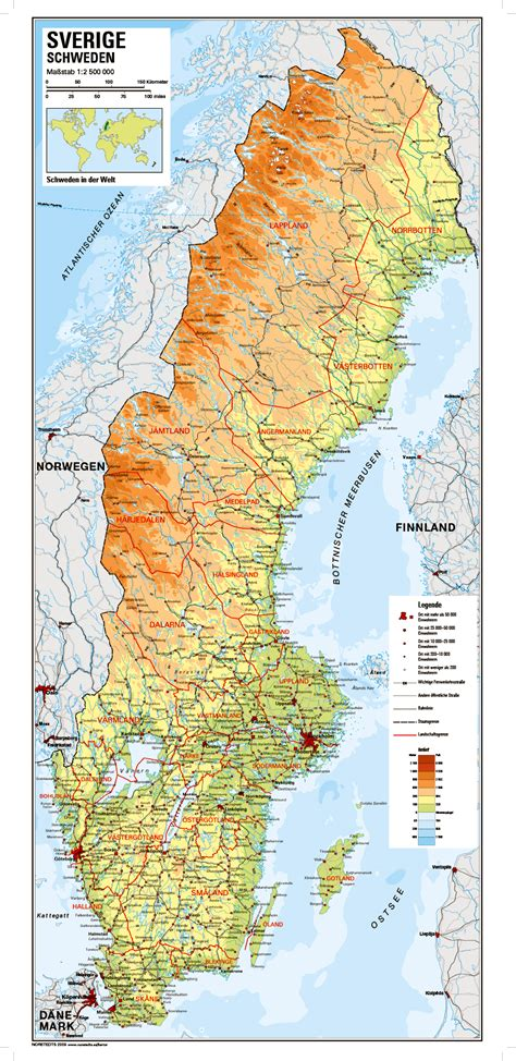 Karte von Schweden | Sharing Sweden