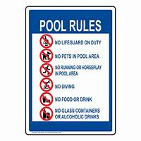 pool rules sign Pool / Spa / Water Safety - Pool Rules Signs