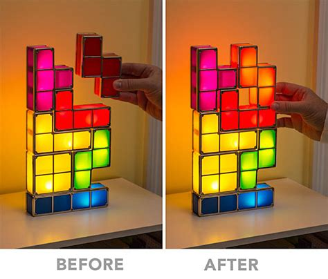 tetris stackable led desk l the green head