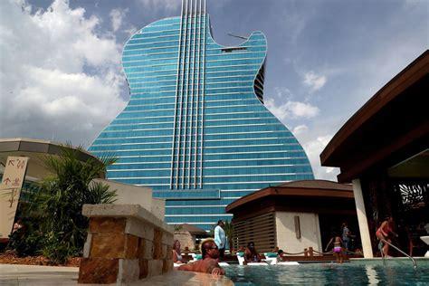 seminole hard rocks guitar shaped hotel opens oct