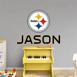 pittsburgh steelers stacked personalized name wall decal With best 20 steelers wall decals