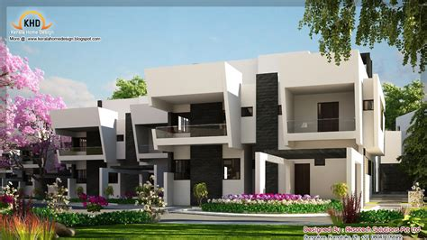 contemporary home design plans 2 beautiful modern contemporary home elevations kerala home design and floor plans