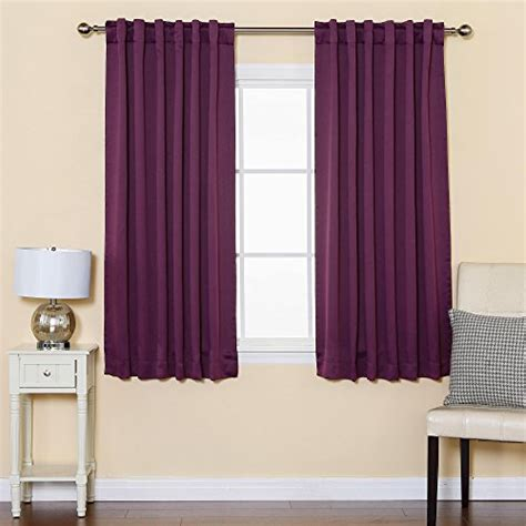 best home fashion purple solid thermal insulated blackout