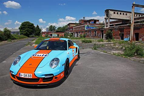 porsche  turbo gulf racing wrap autoevolution