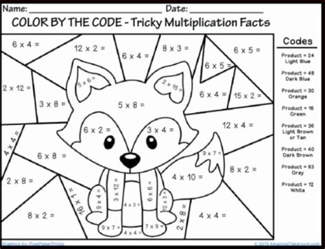 2nd grade math worksheet color by number winter multiplication coloring sheets math coloring