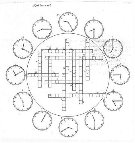 i 7 crucigrama quot 191 qu 233 hora es quot http web grinnell edu