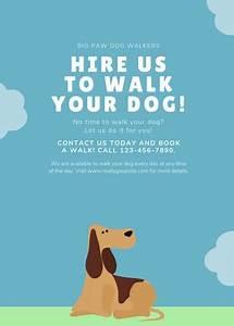 word templates recipe customize 66 dog walker flyer templates online canva