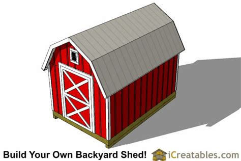 free shed plans 8x12 8x12 gambrel shed plans icreatables