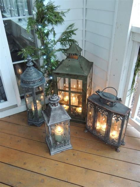 Our Front Porch Lanterns I Love This This Is Such A