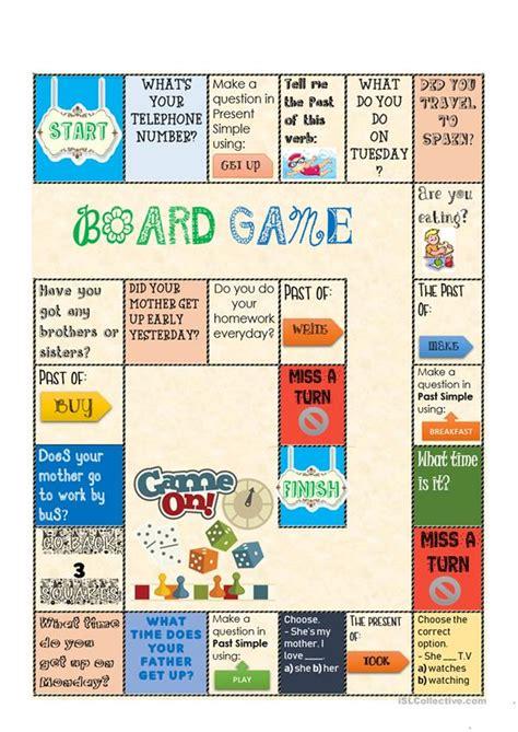 board game present   simple english esl