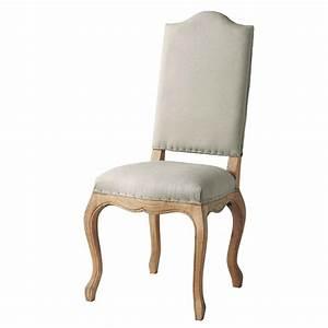Chaise Jardin Maison Du Monde : chaise en lin et ch ne massif atelier maisons du monde ~ Premium-room.com Idées de Décoration