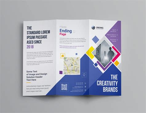 neptune professional corporate tri fold brochure template