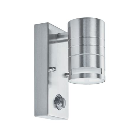 searchlight 1318 1 stainless steel outdoor wall light with pir