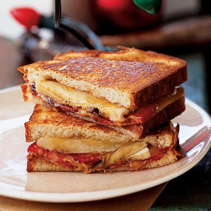 Grilled Peanut Butter And Banana Split Sandwich Recipe Myrecipes