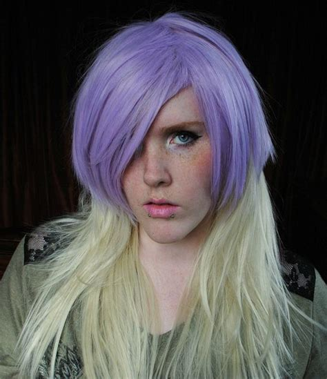 Wig Lilac Ice Hipster Scene Pastel Purple Blonde Hair