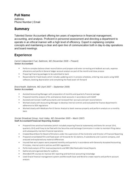 accounting resume templates microsoft word 28 images