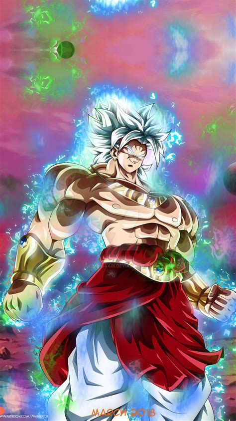 fanart dragon ball broly ultra instinct