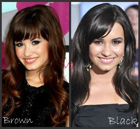 Black Vs Brown Hair by Demi Lovato Brown Vs Black Hair Brown