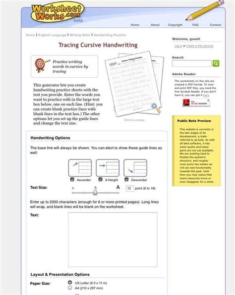Create Custom Cursive Writing Worksheets! Httpwwwworksheetworkscomenglishwriting