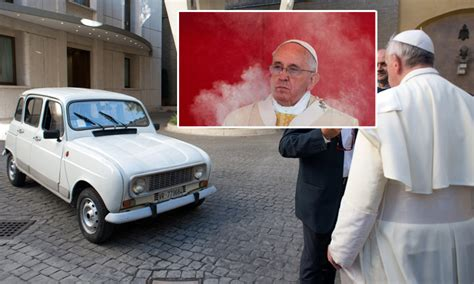 renault 4 pope pope francis celebrating 420 and hotboxing