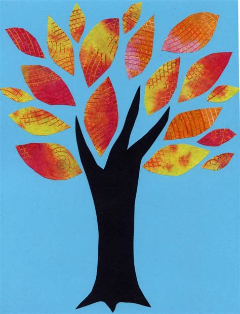 Tree is painted with coffee in a circle with texture background. Coffee Filter Tree Leaves - Art Projects for Kids