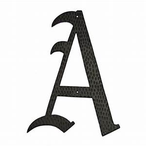 aluminum home accent 24quot monogram With chimney letters