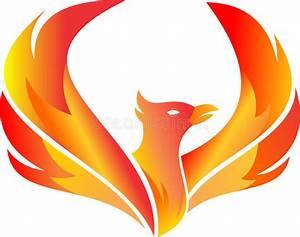Stock Logo Flying Fire Phoenix Stock Vector - Illustration ...