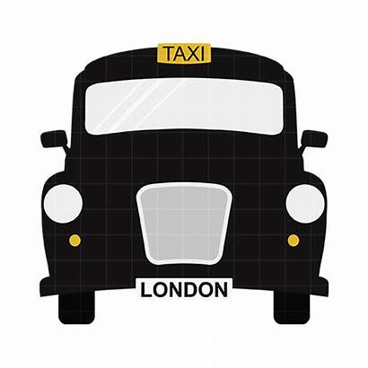 Taxi London Clipart Clip Cab Cartoon Cliparts