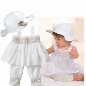 White Baby Girl Clothes 0-3 6-9 12-18 24 Months White ...
