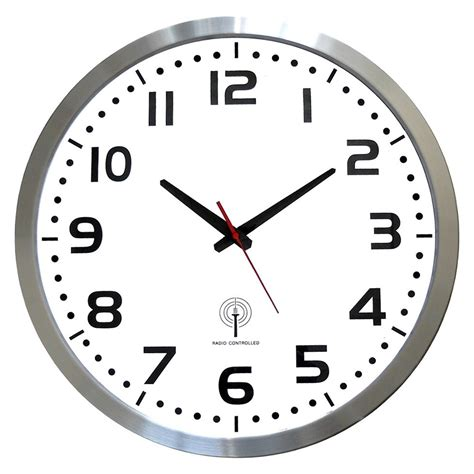 avis cuisine alinea horloge murale radio pilotée entourage argenté horloge