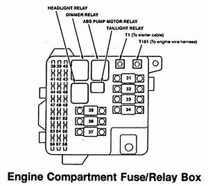 Acura Rl  1996 - 1999  - Wiring Diagrams - Fuse Panel