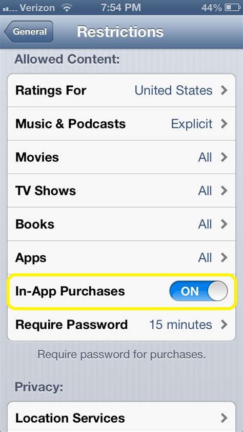 how to turn in app purchases on iphone how to turn in app purchases on the iphone