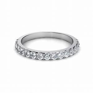 050 Ct Shared Prong Round Brilliant Cut Diamond Wedding Band