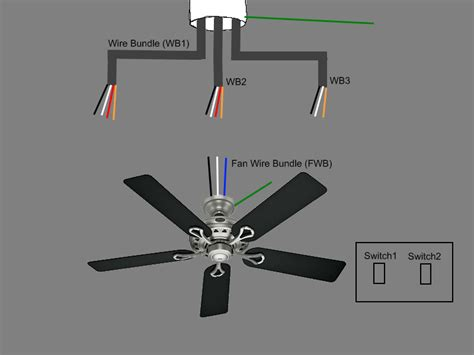 wiring a ceiling fan with 4 wires electric work wiring diagram