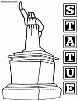 Statue Coloring Pages Colorings sketch template