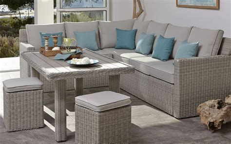 praslin rattan effect sofa dining table contemporary