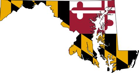 A printable pdf version of the flag is also available. File:Flag-map of Maryland.svg - Wikimedia Commons